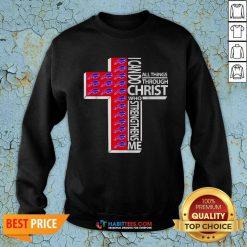 Funny I Can Do All Things Through Christ Buffalo Bills Sweatshirt - Design by Habittees.com
