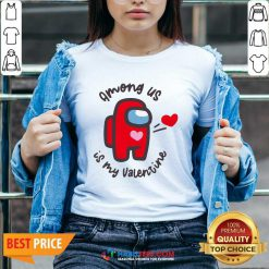 Funny Imposter Among Us Is My Valentine V-neck - Design by Habittees.com