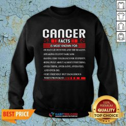 Funny List Cancer Facts Is Most Know For Zodiac Birthday Cancer Sweatshirt - Design by Habittees.com
