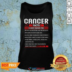 Funny List Cancer Facts Is Most Know For Zodiac Birthday Cancer Tank top - Design by Habittees.com
