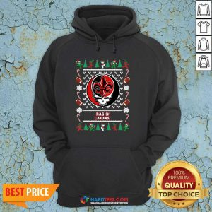 Funny Louisiana Ragin Cajuns Grateful Dead Ugly Christmas Hoodie - Design by Habittees.com