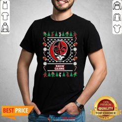 Funny Louisiana Ragin Cajuns Grateful Dead Ugly Christmas Shirt - Design by Habittees.com