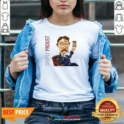 Funny Simply Proust 2020 V-neck - Design by Habittees.com