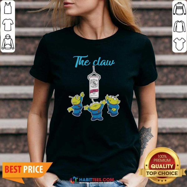 Funny The Claw Merry Christmas V-neck - Design by Habittees.com