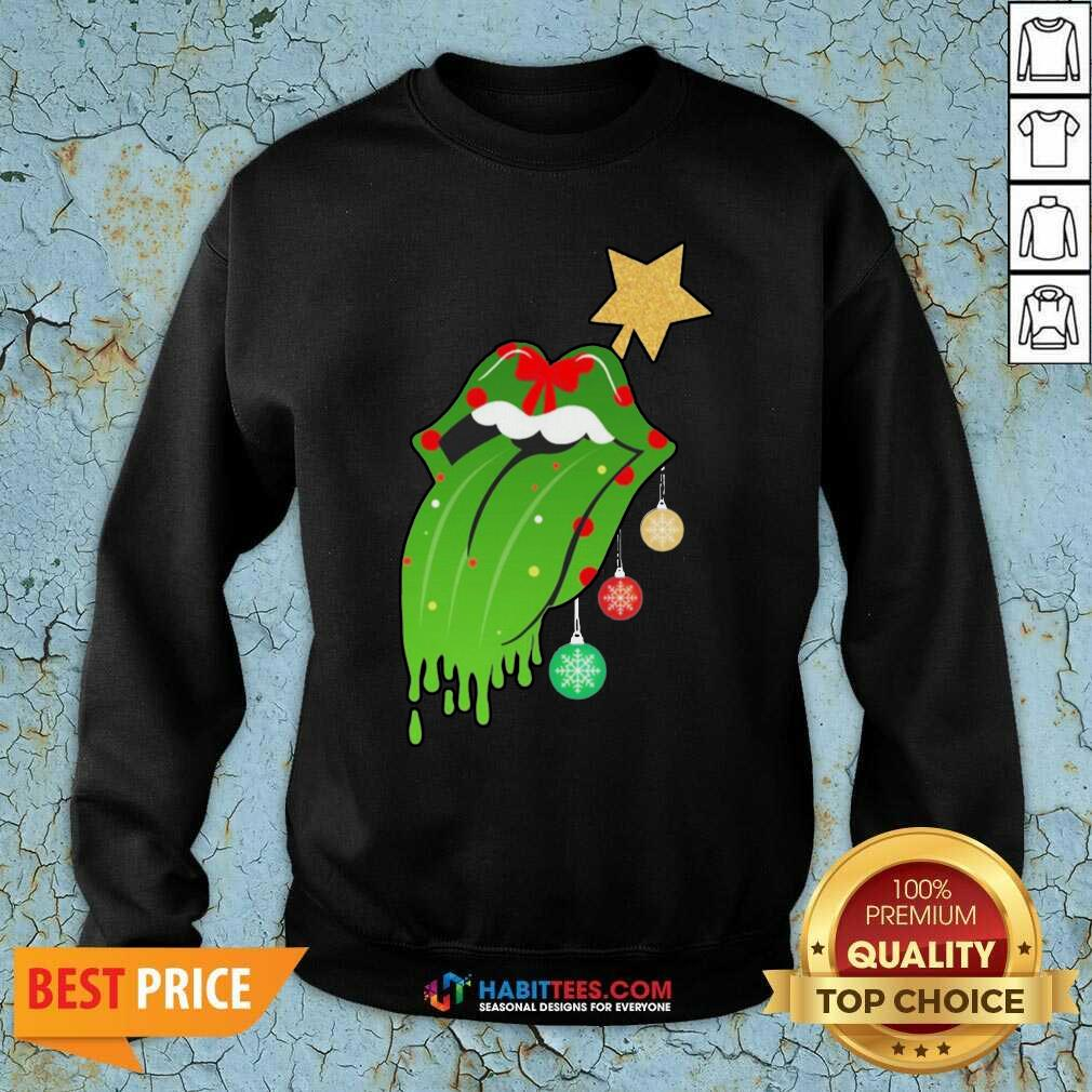 Funny The Rolling Stones Merry Christmas Sweatshirt - Design by Habittees.com