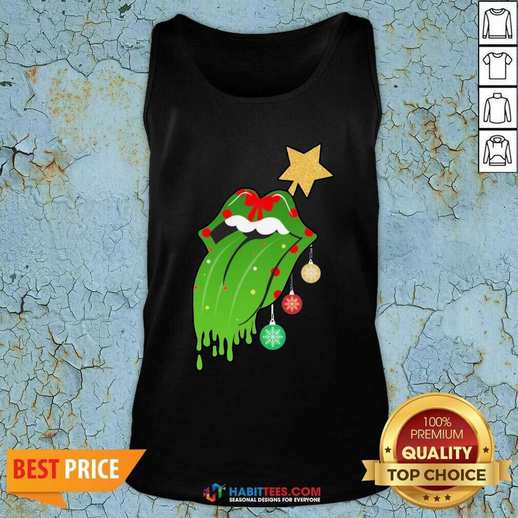 Funny The Rolling Stones Merry Christmas Tank Top - Design by Habittees.com