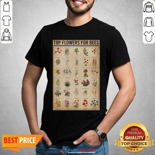 Funny Top Flowers For Bees Vintage Knowledge Shirt - Design by Habittees.com