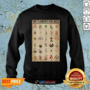 Funny Top Flowers For Bees Vintage Knowledge Sweatshirt - Design by Habittees.com
