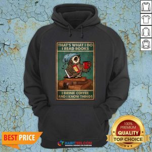 Good Owl Read Books Drink Coffee Hoodie - Design by Habittees.com