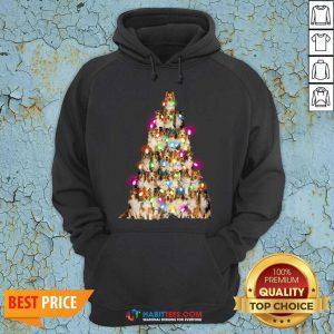 Good Sheltie dog Christmas Tree Sheltie Xmas Tree Hoodie - Design by Habittees.com