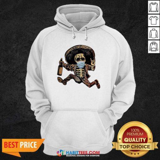 Good Skeleton Drink Wine Pine Hoodie - Design by Habittees.com
