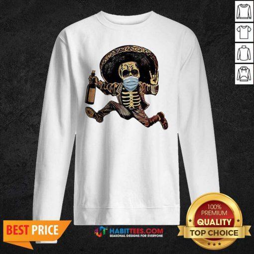 Good Skeleton Drink Wine Pine Sweatshirt - Design by Habittees.com
