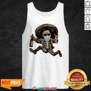 Good Skeleton Drink Wine Pine Tank Top - Design by Habittees.com