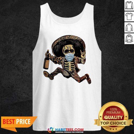 Good Skeleton Drink Wine Pine Tank Top - Design by Habittees.com