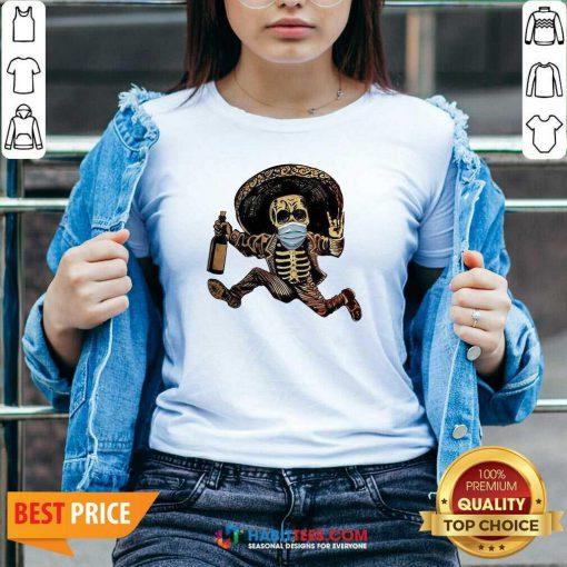 Good Skeleton Drink Wine Pine V-neck - Design by Habittees.com