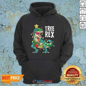 Good Tree Rex Christmas Tree Dinosaur Hoodie - Design by Habittees.com