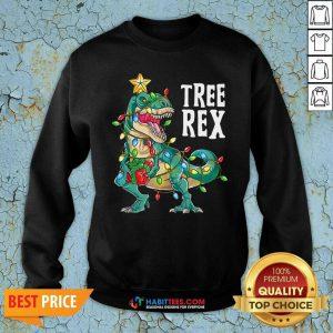 Good Tree Rex Christmas Tree Dinosaur Sweatshirt - Design by Habittees.com