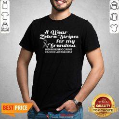 I Weat Zebra Stripes Dor My Grandma Neuroendocrine Cancer Awareness Survivor Warrior Shirt - Design by Habittees.com