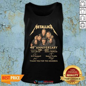 Metallica 40th Anniversary Thank You For The Memories Signature Tank Top - Design by Habittees.com