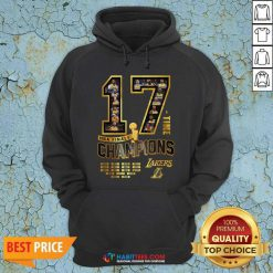 Nice 17 Time Nba Finals Champions Los Angeles Lakers 1949 1950 1952 1953 Hoodie - Design by Habittees.com