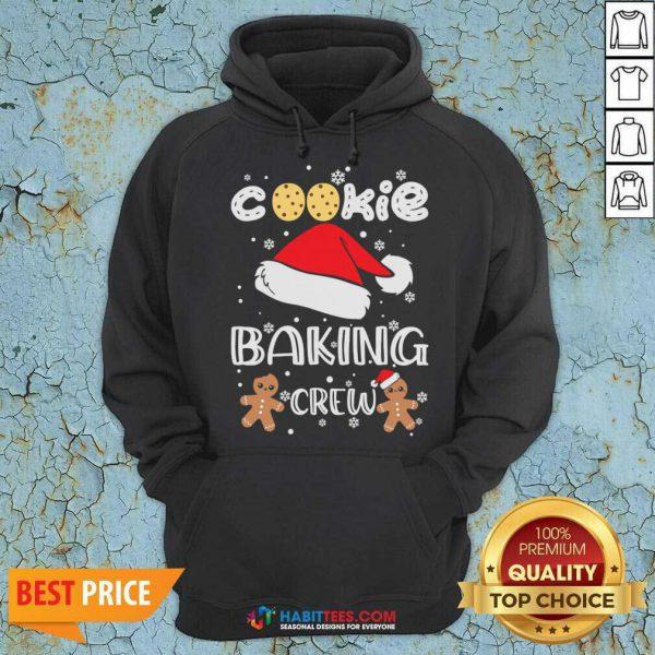 Nice Cookie Baking Crew Santa Christmas Hoodie - Design by Habittees.com