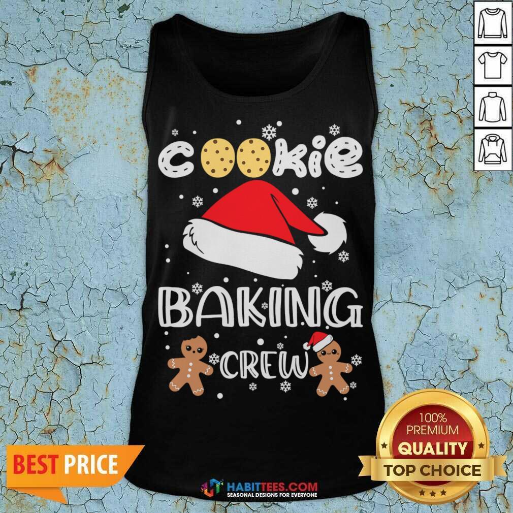 Nice Cookie Baking Crew Santa Christmas Tank Top - Design by Habittees.com