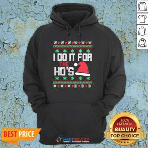 Nice I Do It For The Hos Ugly Christmas 2020 Hoodie - Design by Habittees.com