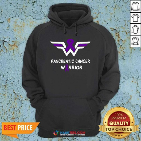 Nice Pancreatic Cancer Awareness Warrior Support Purple Ribbon Hoodie - Design by Habittees.com