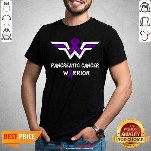 Nice Pancreatic Cancer Awareness Warrior Support Purple Ribbon Shirt - Design by Habittees.com