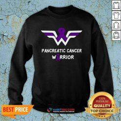 Nice Pancreatic Cancer Awareness Warrior Support Purple Ribbon Sweatshirt - Design by Habittees.com