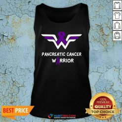 Nice Pancreatic Cancer Awareness Warrior Support Purple Ribbon Tank Top - Design by Habittees.com