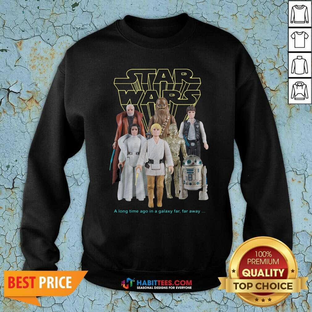 Nice Star Wars Good Guys Action Figures Sweatshirt- Design by Habittees.com