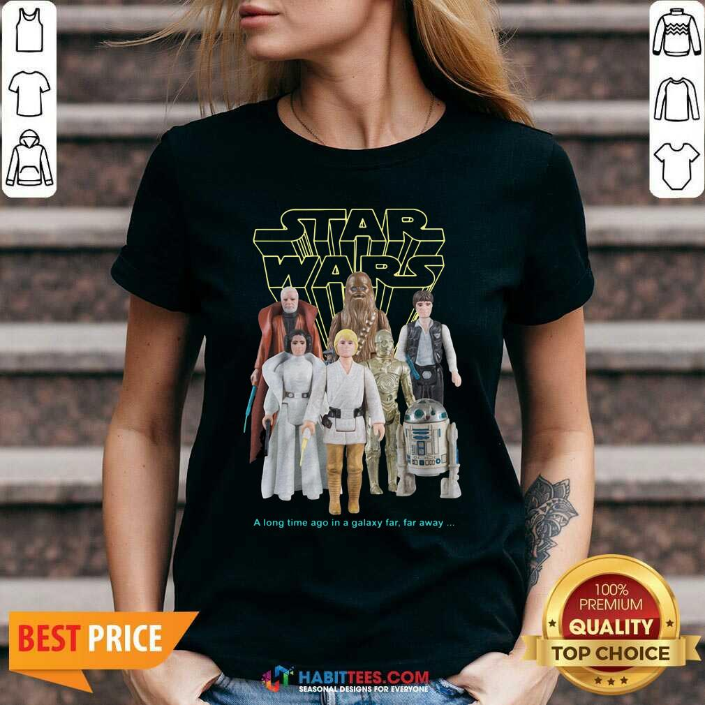 Nice Star Wars Good Guys Action Figures V-neck- Design by Habittees.com