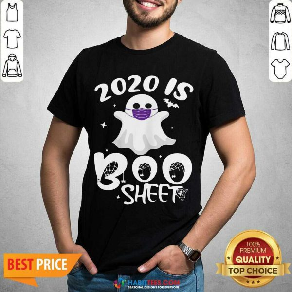 Official 2020 Is Boo Ghost Wear Mask Halloween Shirt - Design by Habittees.com