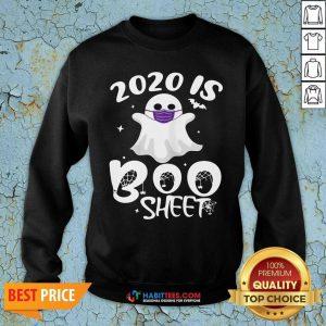 Official 2020 Is Boo Ghost Wear Mask Halloween Sweatshirt - Design by Habittees.com