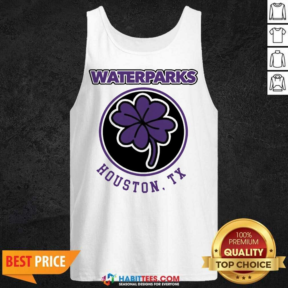 Official Clover Leaf Waterparks Houston Tx Tank Top - Design by Habittees.com
