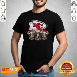 Official Cute Kansas City Chiefs Elephant Christmas Shirt - Design by Habittees.com
