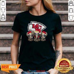 Official Cute Kansas City Chiefs Elephant Christmas V-neck - Design by Habittees.com