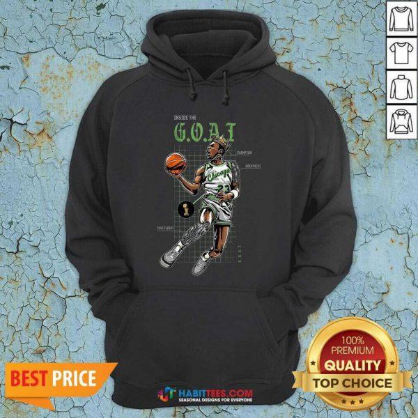 Official Jordan 11 Bred Inside The Goat Hoodie - Design by Habittees.com