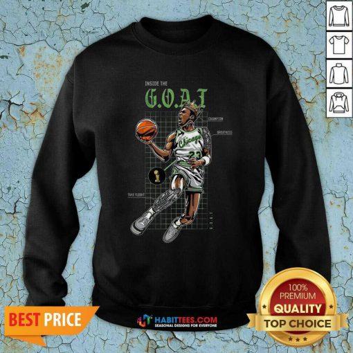 Official Jordan 11 Bred Inside The Goat Sweatshirt - Design by Habittees.com