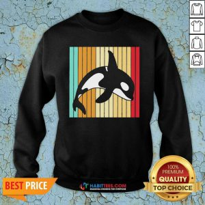 Official Orca Killer Whale Killer Whale Vintage Sweatshirt - Design by Habittees.com