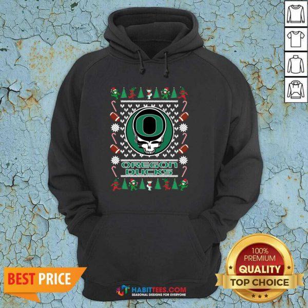 Official Oregon Ducks Grateful Dead Ugly Christmas Hoodie - Design by Habittees.com