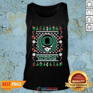Official Oregon Ducks Grateful Dead Ugly Christmas Tank Top - Design by Habittees.com