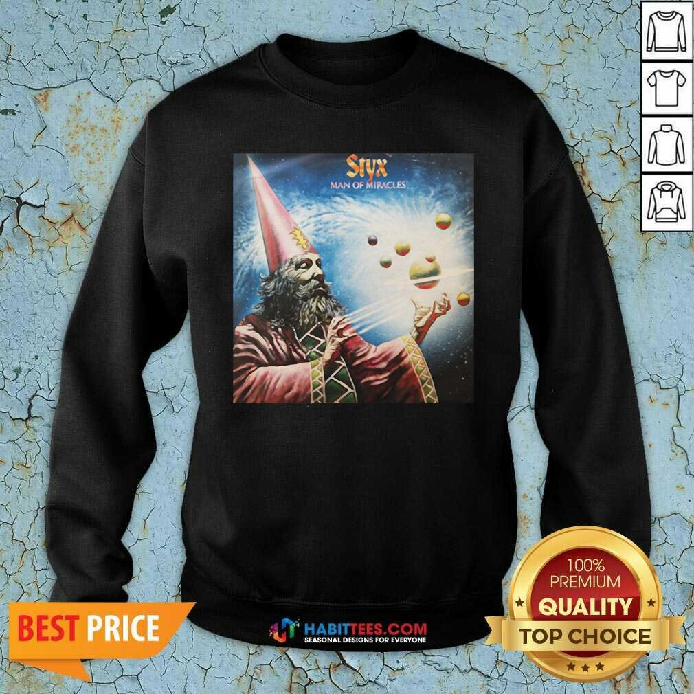 Official Styx Man Of Miracles Solar System Sweatshirt- Design by Habittees.com