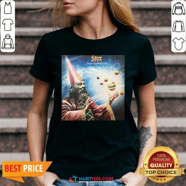 Official Styx Man Of Miracles Solar System V-neck- Design by Habittees.com