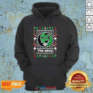 Original Marshall Thundering Herd Grateful Dead Ugly Christmas Hoodie - Design by Habittees.com