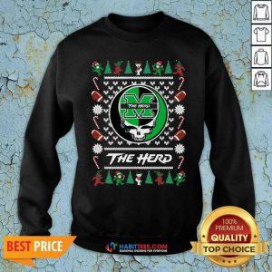 Original Marshall Thundering Herd Grateful Dead Ugly Christmas Sweatshirt - Design by Habittees.com