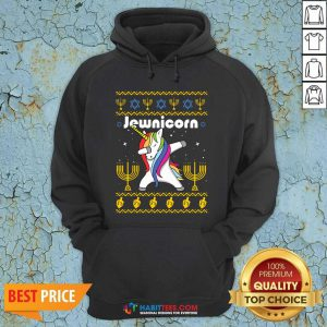 Original Unicorn Jewnicorn Ugly Christmas Hoodie - Design by Habittees.com