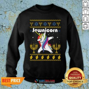 Original Unicorn Jewnicorn Ugly Christmas Sweatshirt - Design by Habittees.com