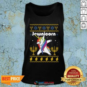 Original Unicorn Jewnicorn Ugly Christmas Tank Top - Design by Habittees.com